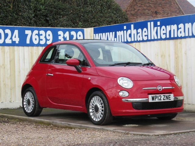 USED 2012 12 FIAT 500 1.2 LOUNGE 3d 69 BHP IDEAL FIRST CAR
