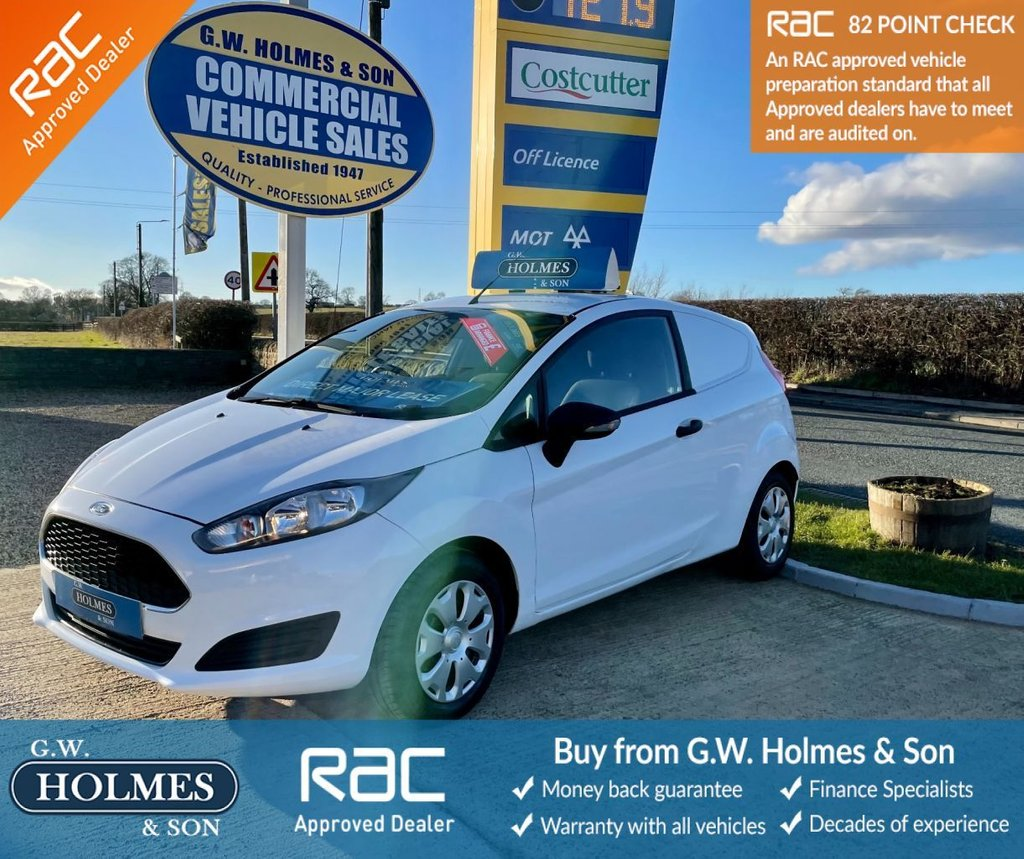 USED 2016 16 FORD FIESTA VAN 1.5 TDCI 95 BHP **EURO 6**1 OWNER DIRECT **ONLY 27K**FSH**