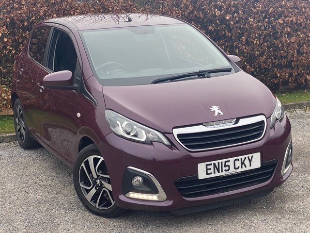 USED 2015 15 PEUGEOT 108 1.2 PURETECH ALLURE 5d 82 BHP * 2 OWNERS FROM NEW * LOW MILEAGE CAR * 12 MOMTHS FREE AA MEMBERSHIP *