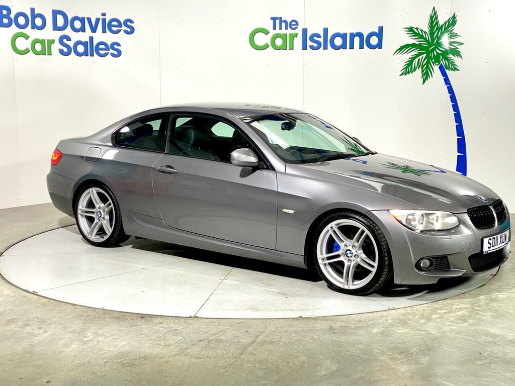 """USED 2011 04 BMW 3 SERIES 2.0 320D M SPORT 2d 181 BHP 19"""" Alloy Wheels, Heated Leather Upholstery 107000miles"""