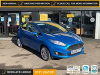 """USED 2014 64 FORD FIESTA 1.2 ZETEC 3d 81 BHP 1 OWNER, 7 SERVICES, CANDY BLUE, REAR SENSORS, 16"""" UPGRADED ALLOYS, LOW MILES.."""