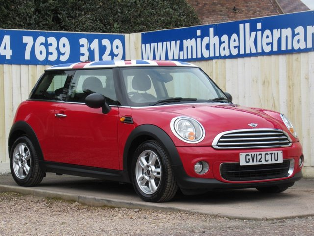 USED 2012 12 MINI HATCH ONE 1.6 ONE 3d 98 BHP LOVELY LITTLE CAR