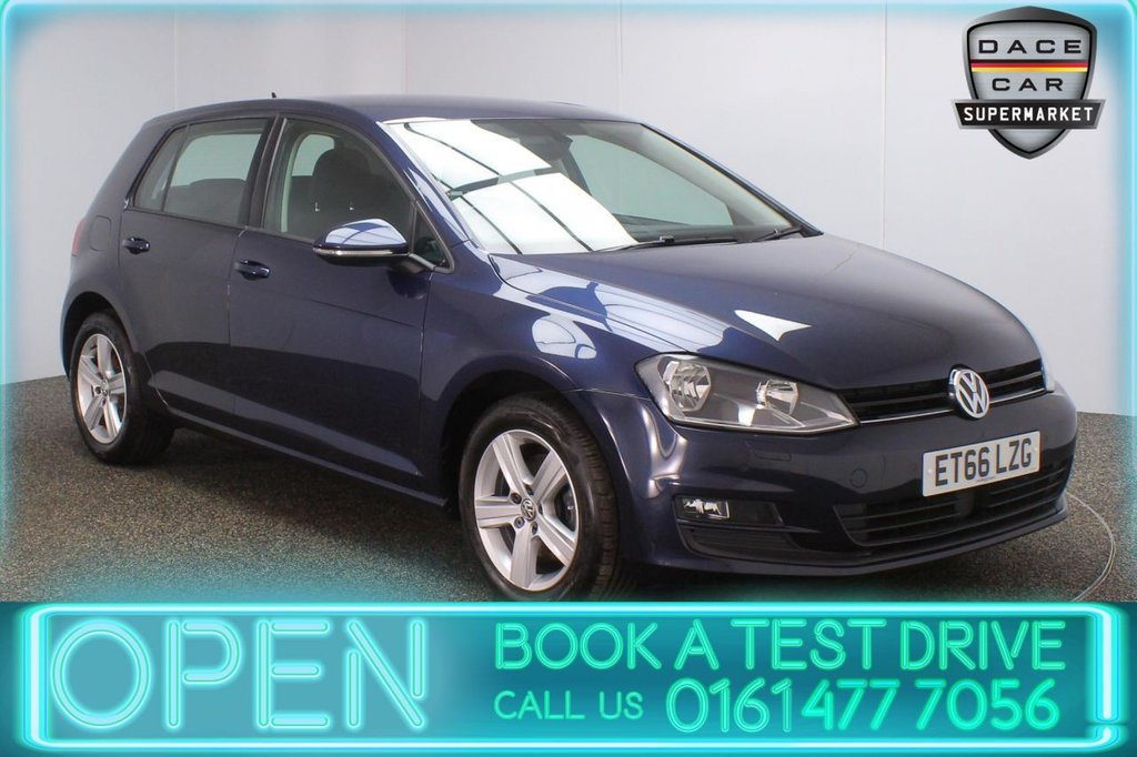 USED 2017 66 VOLKSWAGEN GOLF 1.6 MATCH EDITION TDI BMT 5DR 1 OWNER 109 BHP FULL SERVICE HISTORY + FREE 12 MONTHS ROAD TAX + HEATED FRONT SEATS + SATELLITE NAVIGATION + PARKING SENSOR + BLUETOOTH + CRUISE CONTROL + AIR CONDITIONING + MULTI FUNCTION WHEEL + DAB RADIO + AUX/USB PORTS + ELECTRIC WINDOWS + ELECTRIC/HEATED DOOR MIRRORS + 16 INCH ALLOY WHEELS