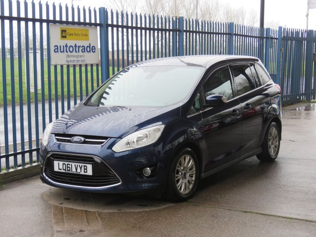 USED 2012 61 FORD GRAND C-MAX 1.6 TITANIUM TDCI 5d 114 BHP 7 Seater  Cruise -DAB Sony Stereo-Ford Service History