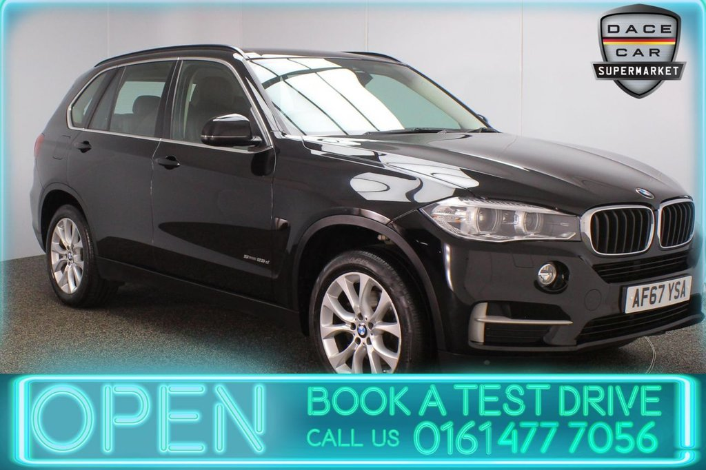 USED 2017 67 BMW X5 2.0 SDRIVE25D SE 5DR 1 OWNER AUTO 7 SEATS 231 BHP FULL BMW SERVICE HISTORY + HEATED LEATHER SEATS + 7 SEATS + SATELLITE NAVIGATION PROFESSIONAL + REVERSING CAMERA + PARKING SENSOR + BLUETOOTH + CRUISE CONTROL + CLIMATE CONTROL + MULTI FUNCTION WHEEL + XENON HEADLIGHTS + ELECTRIC/MEMORY FRONT SEATS + DAB RADIO + ELECTRIC WINDOWS + 19 INCH ALLOY WHEELS