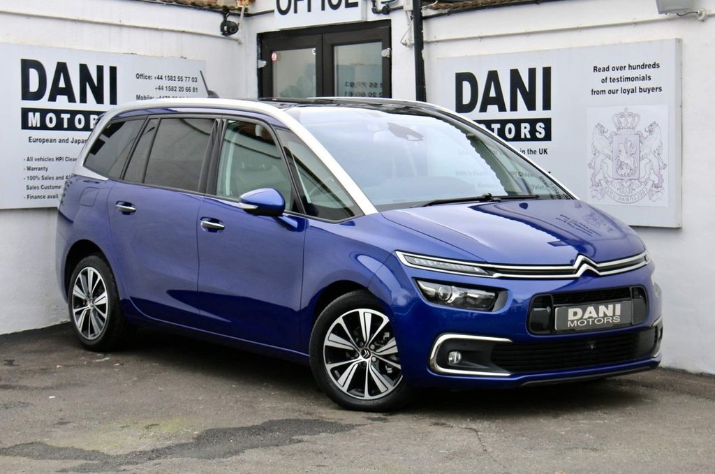 USED 2017 17 CITROEN C4 GRAND PICASSO 1.6 BlueHDi Flair EAT6 (s/s) 5dr 1 OWNER*SATNAV*SUNROOF