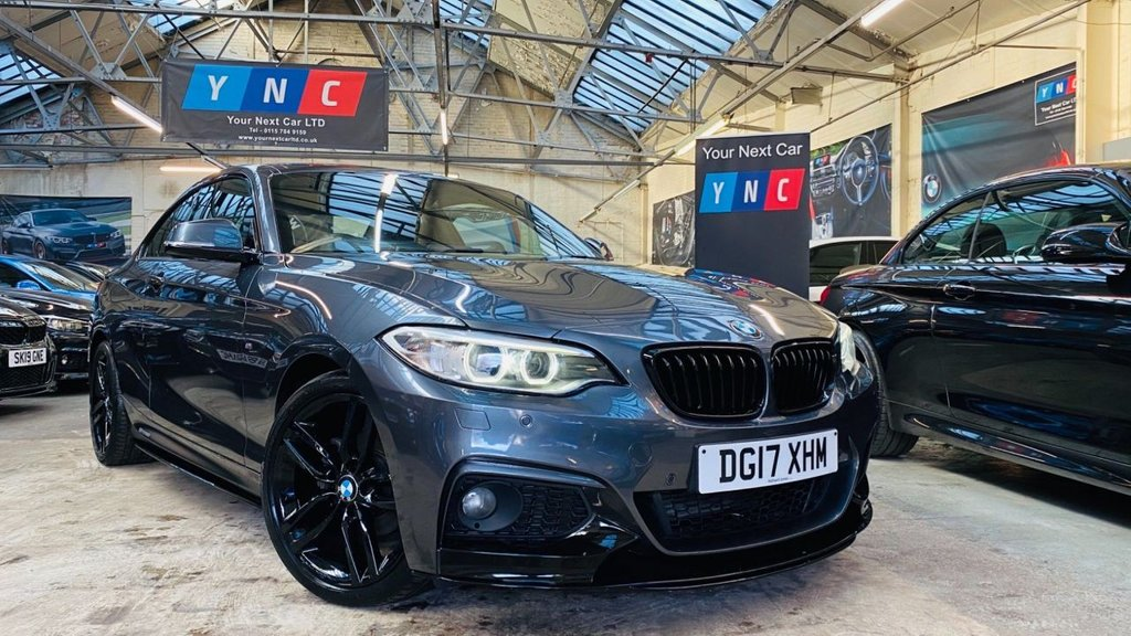 USED 2017 17 BMW 2 SERIES 2.0 218d M Sport (s/s) 2dr PERFORMANCEKIT+XENONS+18S