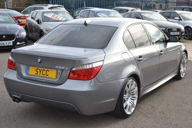 """USED 2008 58 BMW 5 SERIES 3.0 525D M SPORT 4d 195 BHP FULL SERVICE HISTORY WITH ALL BILLS, SATNAV, CRUISE CONTROL, 19"""" SPIDER ALLOY WHEELS"""