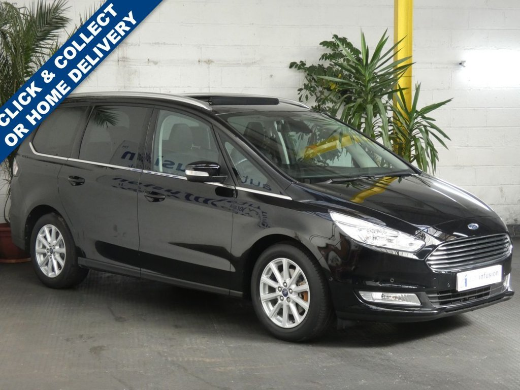 USED 2017 17 FORD GALAXY 2.0 TITANIUM X TDCI 5d 148 BHP SAT NAV LEATHER SUNROOF