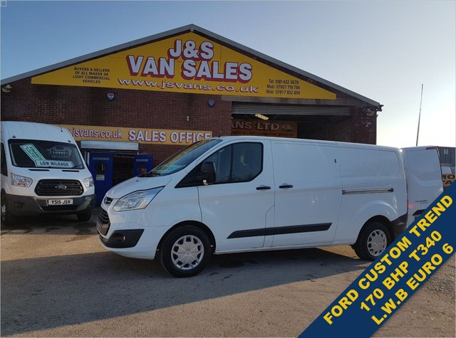 USED 2017 67 FORD TRANSIT CUSTOM T340 TREND BIGGER 170 BHP L.W.B 1 OWNER F.S.H BIG STOCK EURO 6 OVER VANS OVER 100 ON SITE