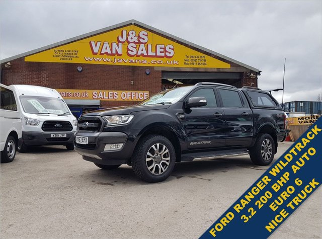 USED 2017 67 FORD RANGER 3.200 WILDTRAK 4X4 DCB TDCI 2OO  BHP AUTOMATIC  BIG STOCK EURO 6 OVER VANS OVER 100 ON SITE