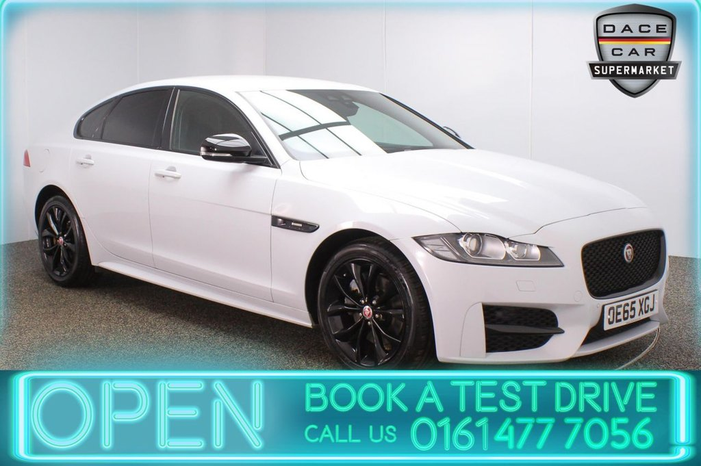 USED 2016 65 JAGUAR XF 2.0 R-SPORT 4DR AUTO 177 BHP £30 12 MONTHS ROAD TAX + HEATED LEATHER SEATS + SATELLITE NAVIGATION + PARKING SENSOR + LANE ASSIST SYSTEM + BLUETOOTH + CRUISE CONTROL + CLIMATE CONTROL + MULTI FUNCTION WHEEL + XENON HEADLIGHTS + PRIVACY GLASS + DAB RADIO + AUX/USB PORTS + ELECTRIC WINDOWS + ELECTRIC DOOR MIRRORS + 18 INCH ALLOY WHEELS