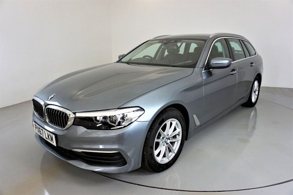 USED 2017 67 BMW 5 SERIES 2.0 520D SE TOURING 5d AUTO-1 OWNER FROM NEW-HEATED BLACK DAKOTA-BLUETOOTH-CRUISE CONTROL-PROFESSIONAL NAVIGATION-PARKING SENSORS-DAB RADIO-CLIMATE CONTROL