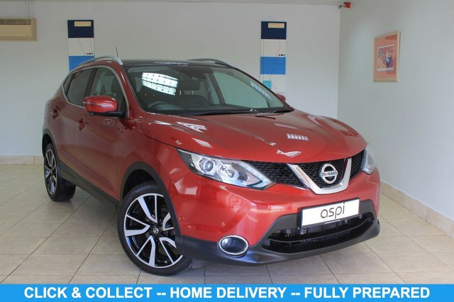 "USED 2015 65 NISSAN QASHQAI 1.2 TEKNA DIG-T XTRONIC 5d 113 BHP GRAPHITE LEATHER, NISSAN CONNECT SATELLITE NAVIGATION, AIR CON, 19"" ALLOYS, BLUETOOTH, CRUISE CONTROL, HEATED FRONT SEATS, HILL START ASSIST, INTELLIGENCE PARK ASSISTANCE, ELECTRIC FRONT SEATS, FRONT & REAR FULL COLOUR CAMERA, NISSAN CONNECT, AUX SOCKET, REAR PRIVACY GLASS, RAIN SENSOR, THERMACLEAR HEATED WINDSCREEN, DAB"