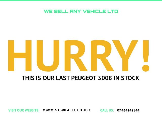 USED 2012 62 PEUGEOT 3008 1.6 HDI ACTIVE 5d 115 BHP VERY WELL KEPT