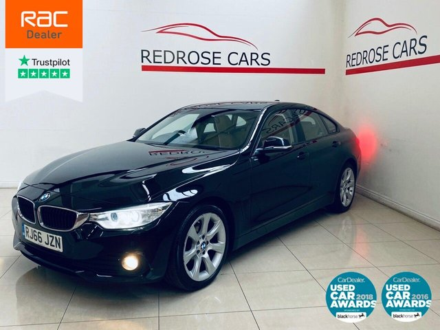 USED 2016 66 BMW 4 SERIES 2.0 420D SE GRAN COUPE 4d 188 BHP FULL SRVC, 1 OWNER, CREAM LEAT