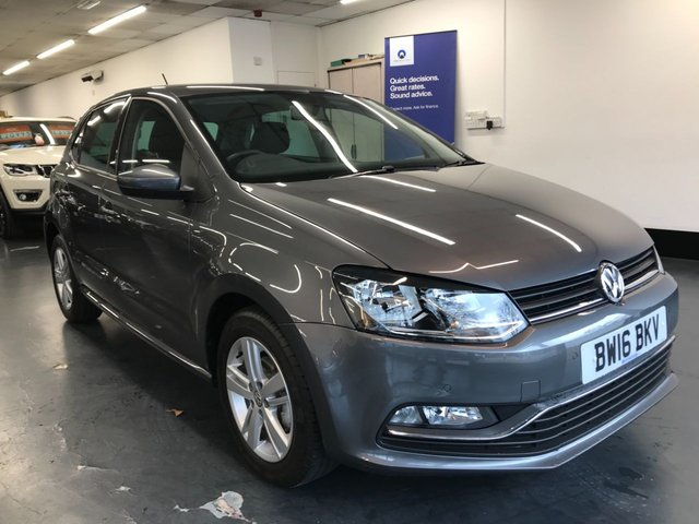USED 2016 16 VOLKSWAGEN POLO 1.2 MATCH TSI 5d 89 BHP 1 owner from new with full Volkswagen service history. Front and rear parking sensors, bluetooth phone and audio