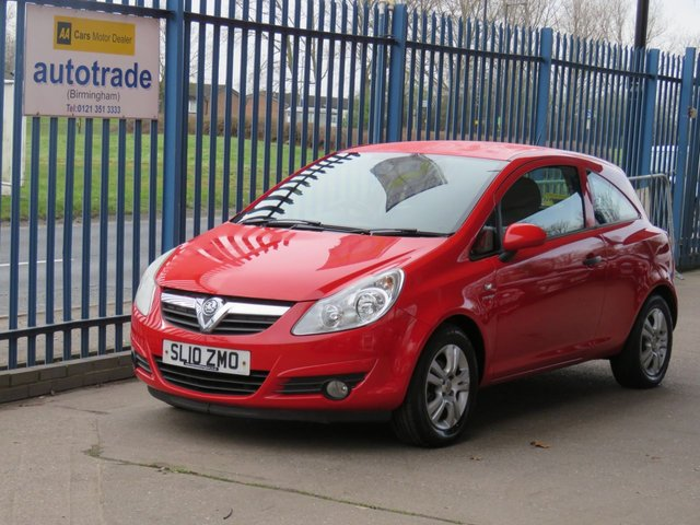 USED 2010 10 VAUXHALL CORSA 1.2 ENERGY 3d 83 BHP Air conditioning-CD player-Electric Windows