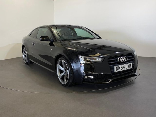USED 2014 64 AUDI A5 2.0 TDI BLACK EDITION 2d 177 BHP Low Mileage 49128 Miles, Gloss Mythos Metallic, Full leather, Rota diamond cut dished alloy wheels, this Audi A5 Black edition is outstanding