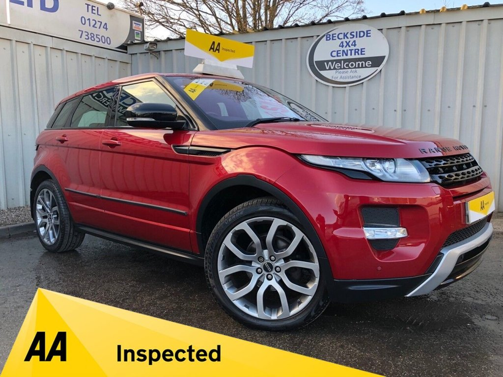 USED 2012 61 LAND ROVER RANGE ROVER EVOQUE 2.2 SD4 DYNAMIC 5d 190 BHP AA INSPECTED. FINANCE. WARRANTY. HIGH SPEC. LOW MILEAGE. MANY EXTRAS