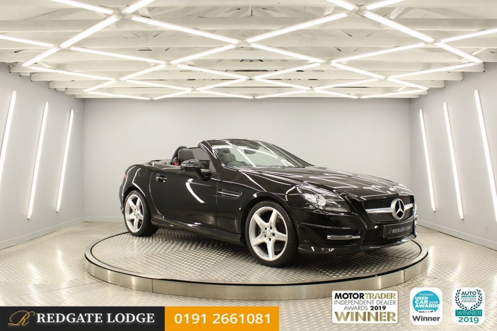USED 2014 64 MERCEDES-BENZ SLK 2.1 SLK250 CDI BLUEEFFICIENCY AMG SPORT 2d 204 BHP FULL NAPPER HEATED LEATHER, AIRSCARF, DIAMOND CUT UPGRADED ALLOYS, SUPER LOW MILES, 4 SERVICES....