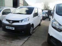USED 2018 68 NISSAN NV200 1.5 DCI ACENTA 5d 90 BHP twin side loading drs 2018 68 nissan nv200 small van size with twin side doors with  A/c