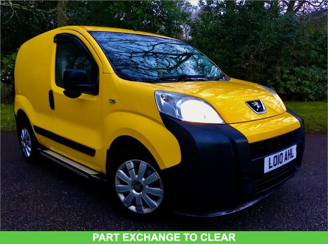 2010 10 PEUGEOT BIPPER 1.4 HDI PROFESSIONAL 5d 68 BHP PART EXCHANGE TO CLEAR//12 MONTHS MOT//NEW BATTERY AND ALTERNATOR