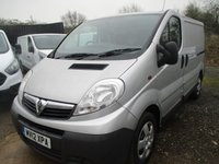 USED 2012 12 VAUXHALL VIVARO 2.0 2700 CDTI 5d 115 BHP Swb in silver NO VAT 2012 12 Vauxhall Vivaro 2.0 6spd diesel swb in silver new 12 months mot ply lined with steel Bulkhead & NO VAT TO PAY