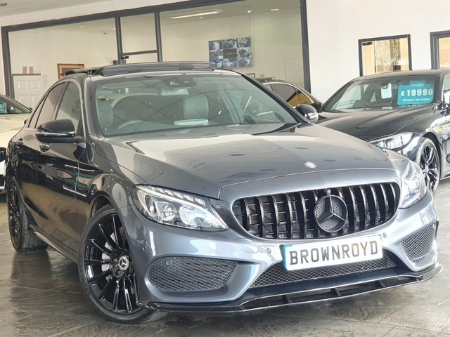 USED 2016 66 MERCEDES-BENZ C-CLASS 2.1 C300 H AMG LINE PREMIUM PLUS 4d 204 BHP BRM BODY STYLING+PAN ROOF