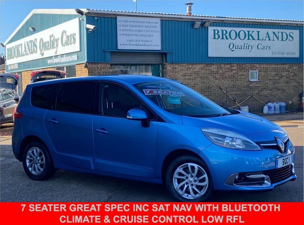 USED 2013 63 RENAULT GRAND SCENIC 1.5 DYNAMIQUE TOMTOM ENERGY DCI S/S Azzuro Blue 110 BHP 7 Seater Great Spec inc SAT NAV with Bluetooth Climate & Cruise Control LOW RFL