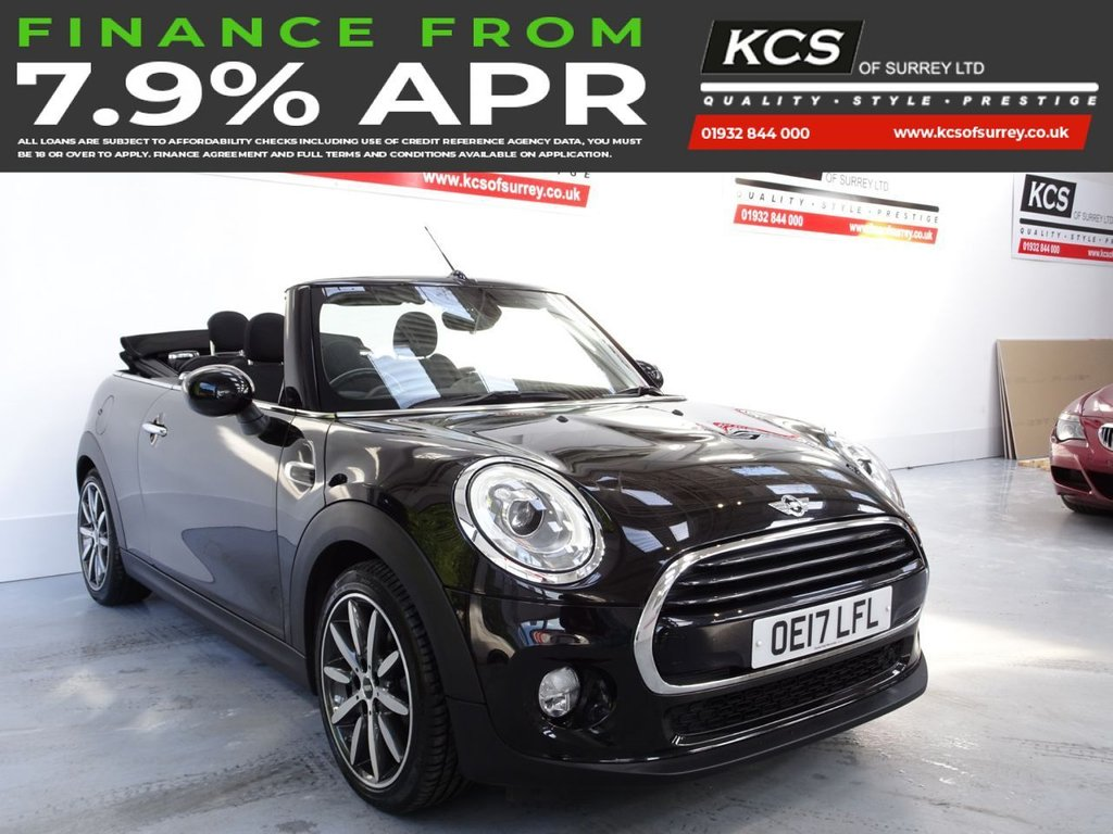 USED 2017 17 MINI CONVERTIBLE 1.5 COOPER 2d 134 BHP CHILI PACK -SAT NAV -HTD SEATS