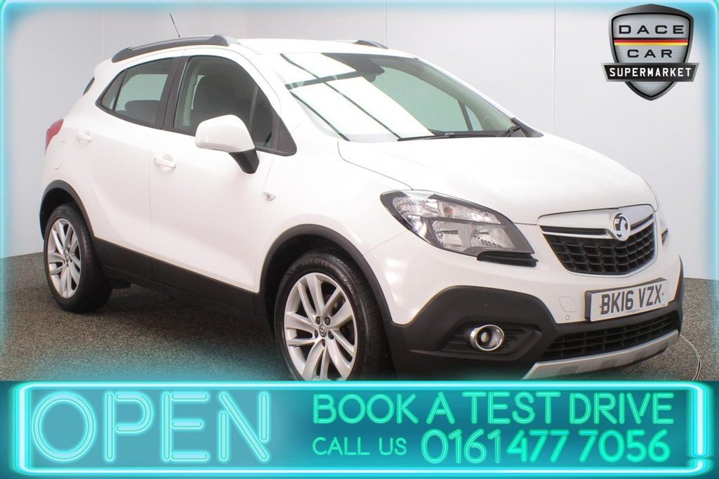 USED 2016 16 VAUXHALL MOKKA 1.6 EXCLUSIV S/S 5DR 114 BHP FULL SERVICE HISTORY + PARKING SENSOR + BLUETOOTH + CRUISE CONTROL + CLIMATE CONTROL + MULTI FUNCTION WHEEL + DAB RADIO + AUX/USB PORTS + ELECTRIC WINDOWS + ELECTRIC/HEATED/FOLDING DOOR MIRRORS + 18 INCH ALLOY WHEELS