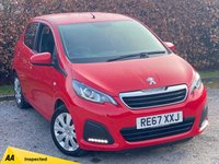 USED 2017 67 PEUGEOT 108 1.0 ACTIVE 5d 68 BHP * 1 OWNER FROM NEW  * 12 MOMTHS FREE AA MEMBERSHIP * TOUCHSCREEN MEDIA *