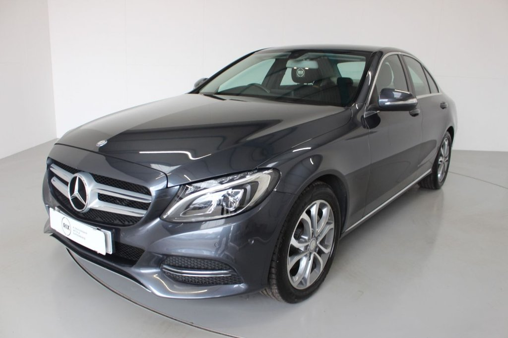 USED 2014 64 MERCEDES-BENZ C-CLASS 2.1 C220 BLUETEC SPORT 4d-20 ROAD TAX-HEATED BLACK LEATHER-BLUETOOTH-CRUISE CONTROL-REVERSE CAMERA-ELECTRIC FOLDING MIRRORS-CLIMATE CONTROL