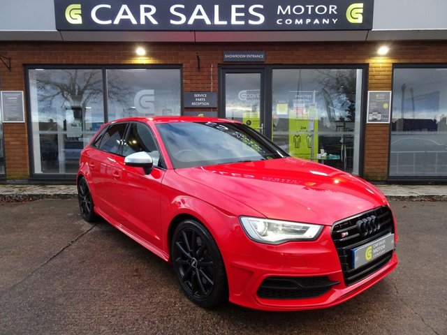 USED 2014 14 AUDI S3 2.0 S3 SPORTBACK QUATTRO 5d 296 BHP BLACK EDITION STYLING, SAT NAV, QUATTRO, FULL LEATHER INTERIOR, FLAT BOTTOM S LINE STEERING WHEEL, DAB RADIO, HEATED SEATS, HPI CLEAR, 5 STAR RATED DEALERSHIP - BUY WITH CONFIDENCE