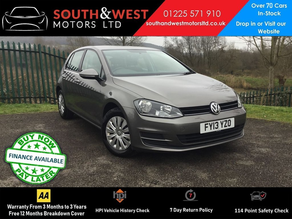 USED 2013 13 VOLKSWAGEN GOLF 1.2 S TSI BLUEMOTION TECHNOLOGY 5d 84 BHP