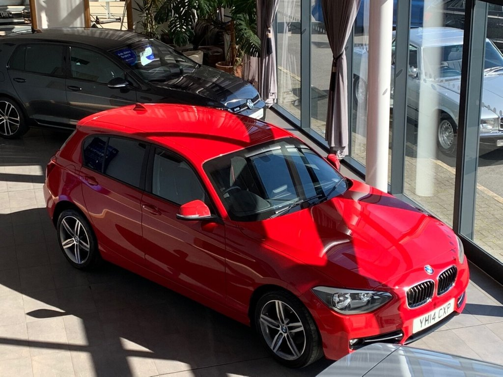 USED 2014 63 BMW 1 SERIES 2.0 120D SPORT 5d + 2014/14 +181 BHP + 48K ONLY + DAB + PARKING AID + 6 SPEED +