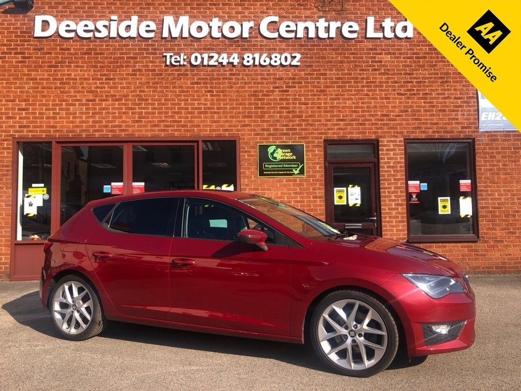 USED 2014 14 SEAT LEON 2.0 TDI FR TECHNOLOGY 5d 184 BHP Front and rear parking sensors