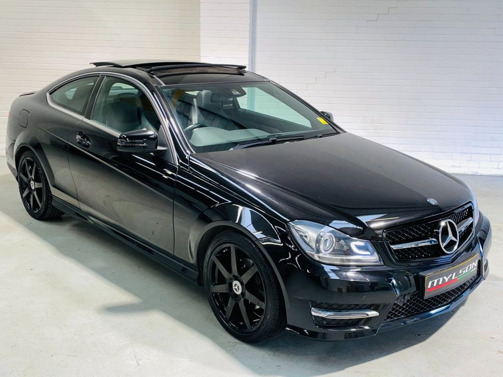 USED 2014 14 MERCEDES-BENZ C-CLASS 2.1 C220 CDI AMG SPORT EDITION PREMIUM PLUS 2d 168 BHP AMG Pack, Glass Panoramic Roof, COMAND Media + Reverse Camera, Heated Seats