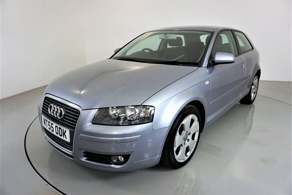 USED 2005 55 AUDI A3 2.0 TDI SPORT 3d-GREAT HISTORY-CLIMATE CONTROL-SIX SPEED MANUAL-ALLOY WHEELS-AIR CONDITIONING