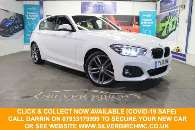 USED 2018 18 BMW 1 SERIES 2.0 118D M SPORT 5d 147 BHP ++Full Black Leather, Nav++
