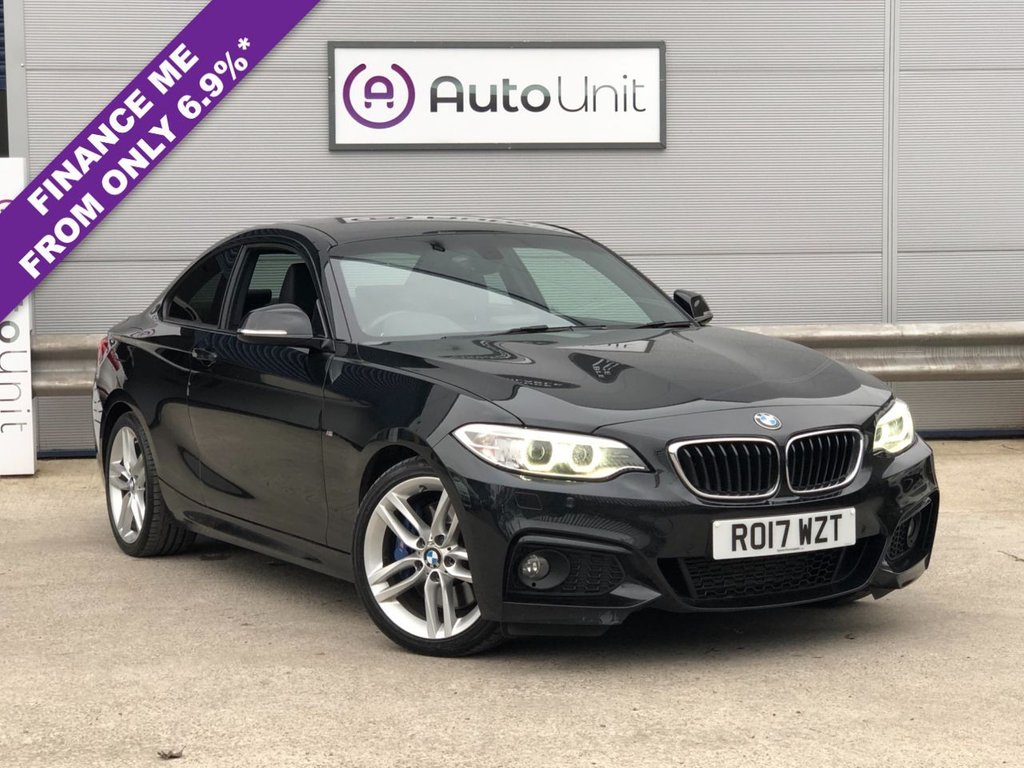 USED 2017 17 BMW 2 SERIES 2.0 225D M SPORT 2d 222 BHP NAV + LEATHER + HK SOUND + £3515 ADDED EXTRAS