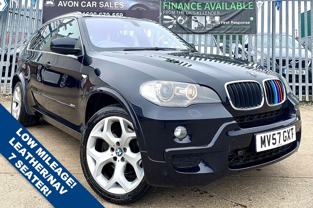 USED 2007 57 BMW X5 3.0 D M SPORT 5d 232 BHP AUTOMATIC - 7 SEATER!!! VERY LOW MILEAGE!! FULL LEATHER! SAT NAV! COMP SERVICE HISTORY! 2 PREV OWNERS!