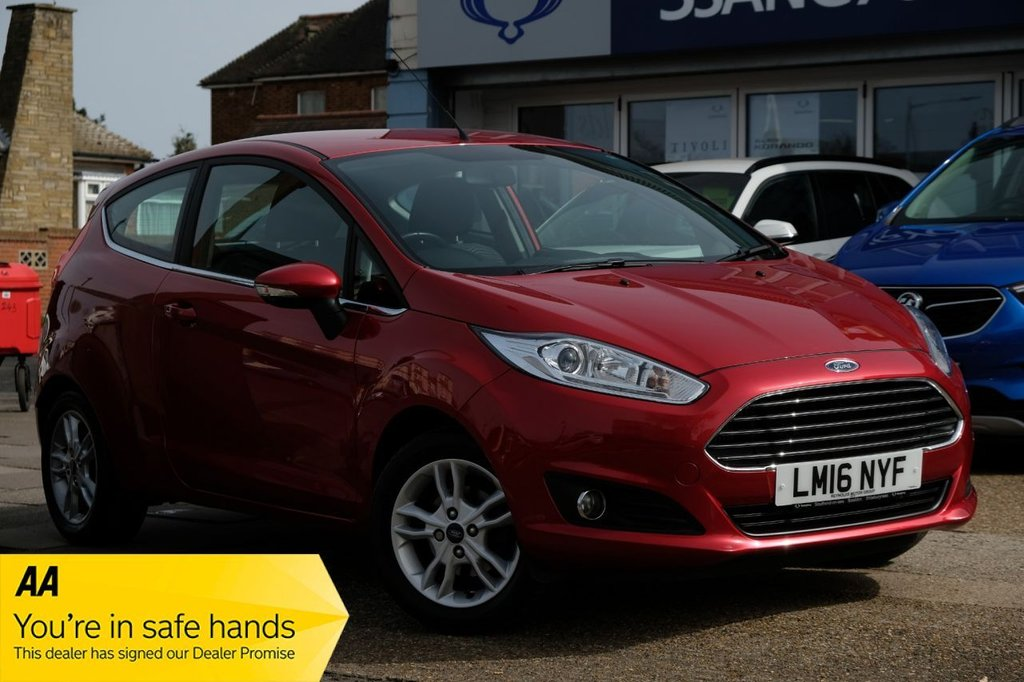 USED 2016 16 FORD FIESTA 1.0 ZETEC 3d 99 BHP AVAILABLE FOR £149 PER MONTH £0 DEPOSIT