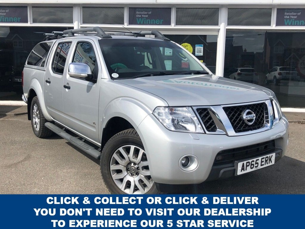 USED 2015 65 NISSAN NAVARA 3.0 OUTLAW DCI 4X4 4dr 5 Seat Double Cab Pickup 4x4 AUTO With NO VAT TO PAY Huge Spec inc Rear Canopy Side Steps Towbar Roof Rails with Very Low Mileage plus Recent Service & MOT Now Ready to Finance and Drive Away Today.  Low Mileage and NO VAT TO PAY