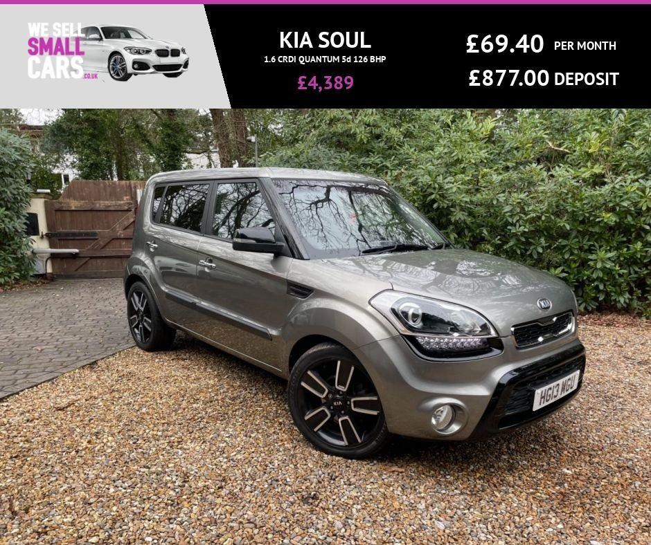 USED 2013 13 KIA SOUL 1.6 CRDI QUANTUM 5d 126 BHP ONLY 2 OWNERS SERVICE HISTORY HEATED LEATHER INTERIOR CRUISE CONTROL