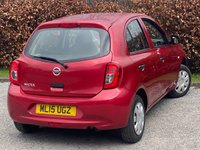 USED 2015 15 NISSAN MICRA 1.2 VISIA 5d COMPRHENSIVE SERVICE HISTORY, 12 MONTHS MOT, BLUETOOTH, ELECTRIC WINDOWS