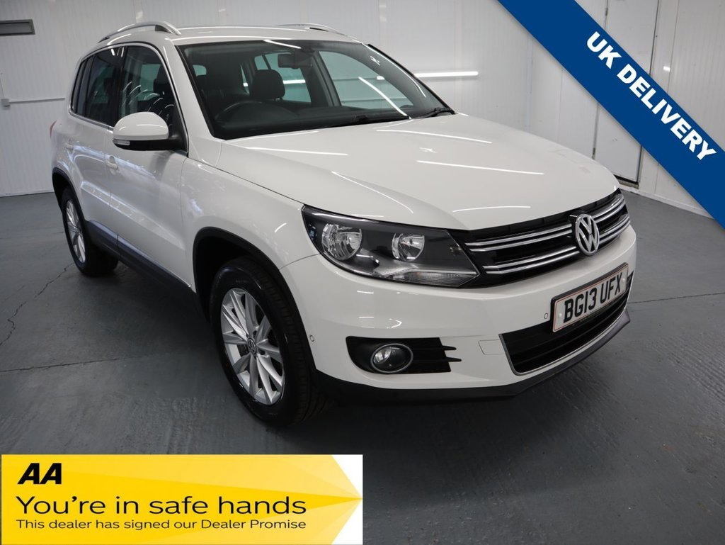 USED 2013 13 VOLKSWAGEN TIGUAN 1.4 SE TSI BLUEMOTION TECHNOLOGY 5d 158 BHP TALL RIDING CROSSOVER COMBINES THE USABILITY OF THE GOLF.