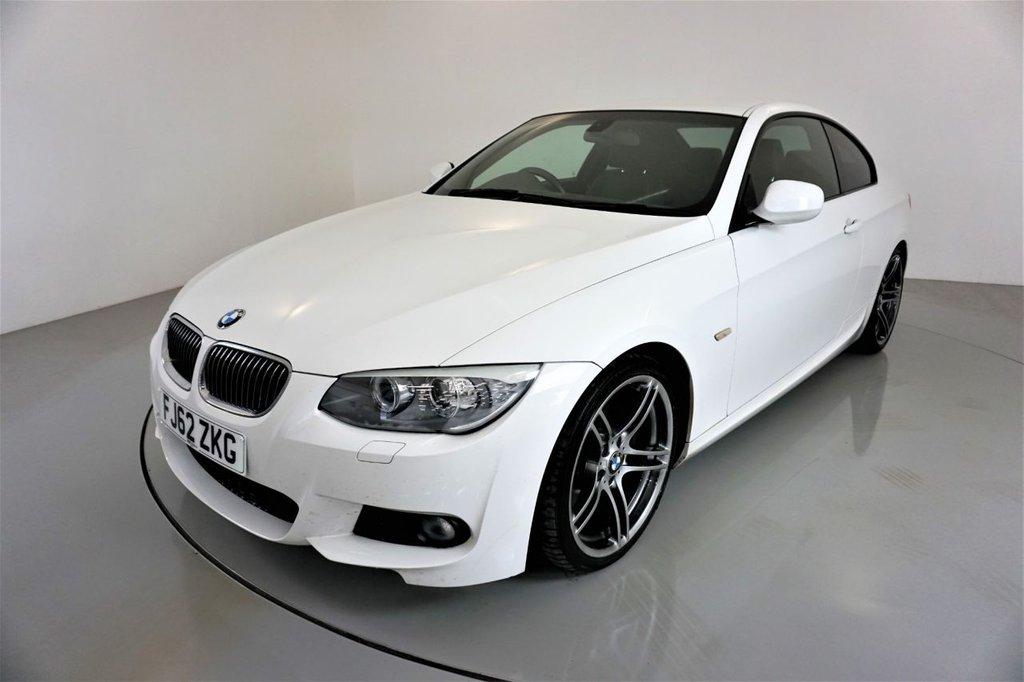 USED 2013 62 BMW 3 SERIES 3.0 325D M SPORT 2d-2 OWNER CAR-BLACK DAKOTA LEATHER-REAR PARKING SENSORS-CRUISE CONTROL-19