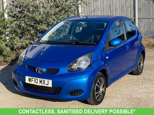 USED 2010 10 TOYOTA AYGO 1.0 BLUE VVT-I 5d 67 BHP AIR CON LOW MILEAGE FINANCE ME TODAY-UK DELIVERY POSSIBLE